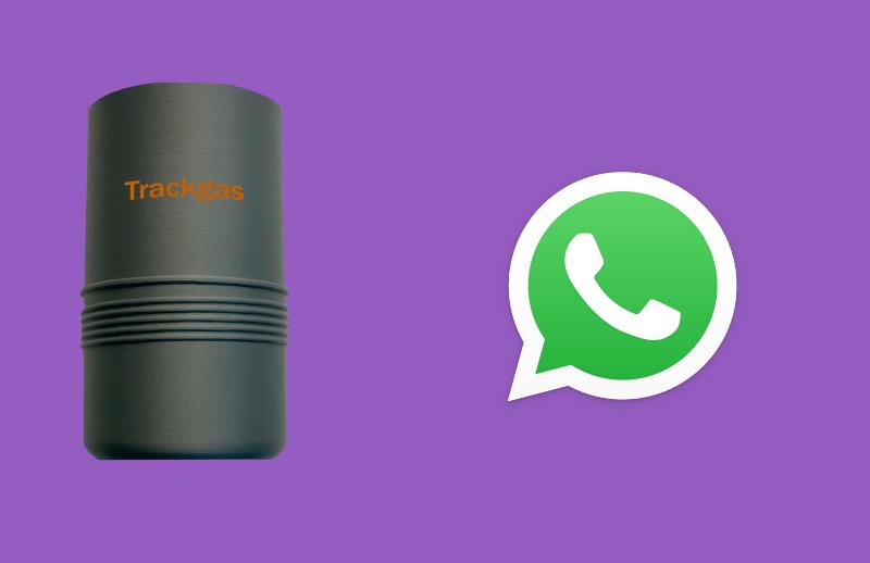Con TrackGas tu cliente verá su depósito mandando un mensaje de Whatsapp.